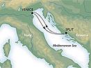 Benátky - Split - plavba