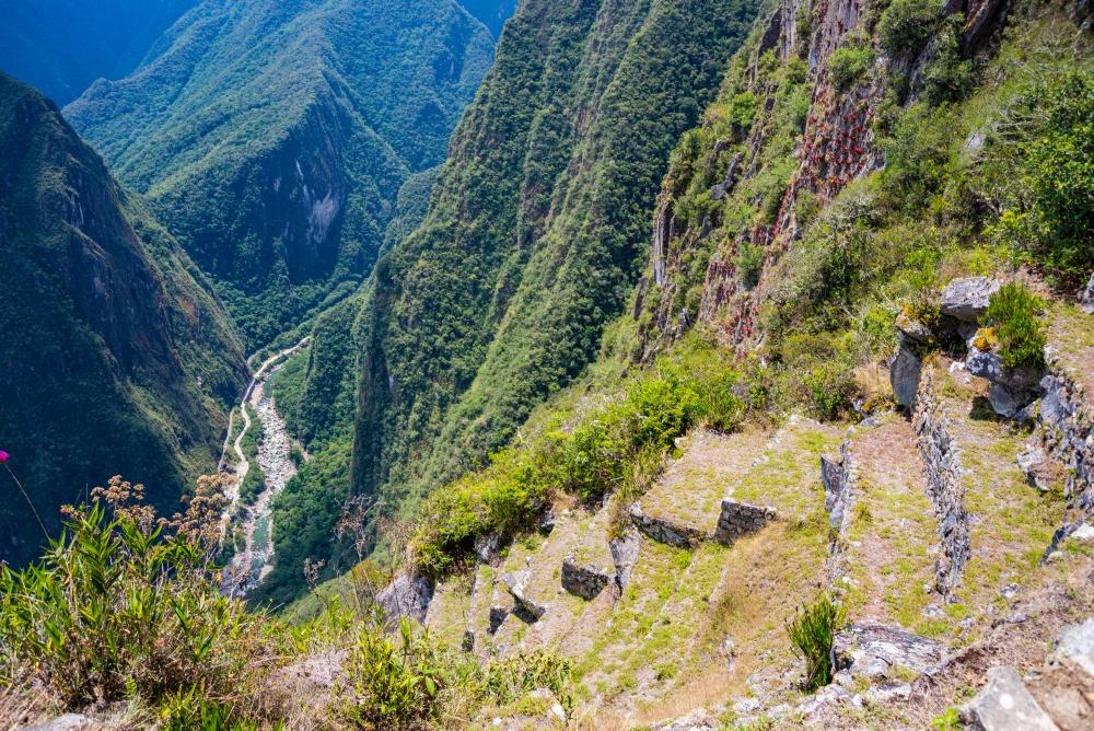 Cesta vedoucí na Machu Picchu.