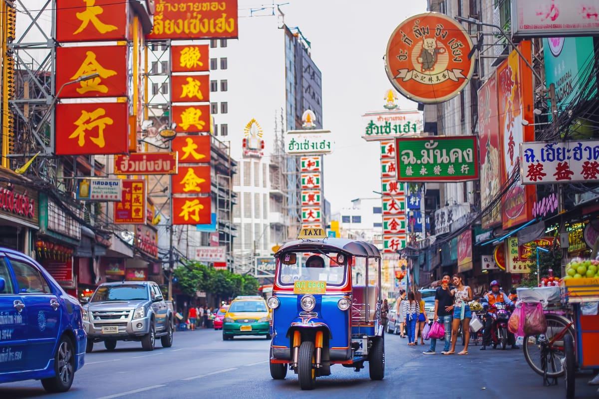 Čínská čtvrť Bangkok