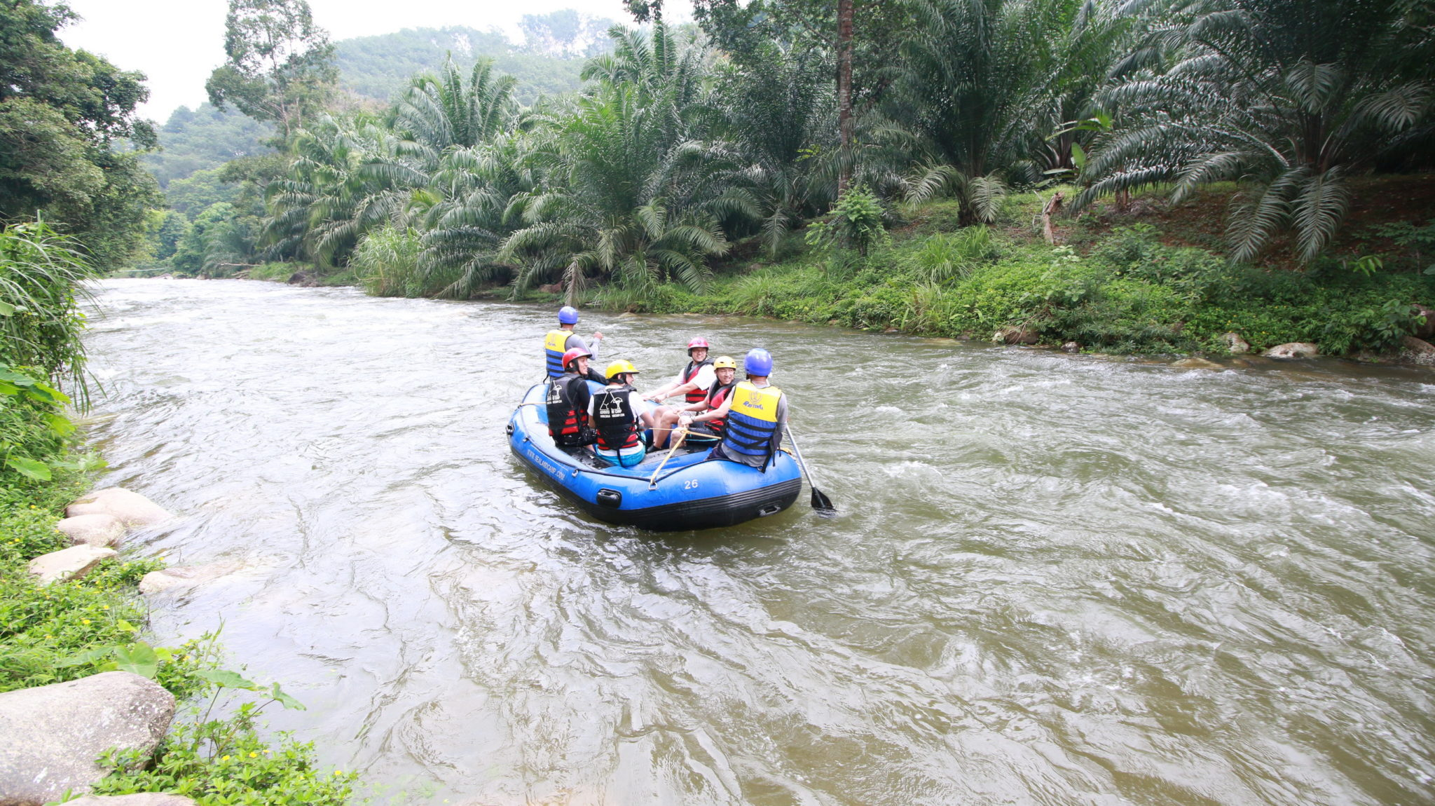 Sjezd řeky na raftech