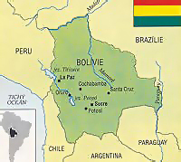 Bolívie - mapa