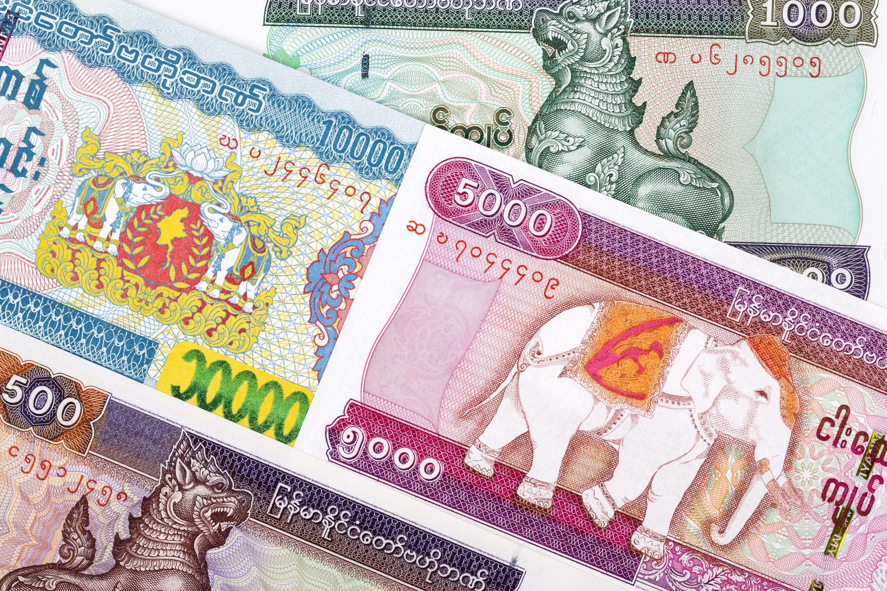 myanmarská měna kyat