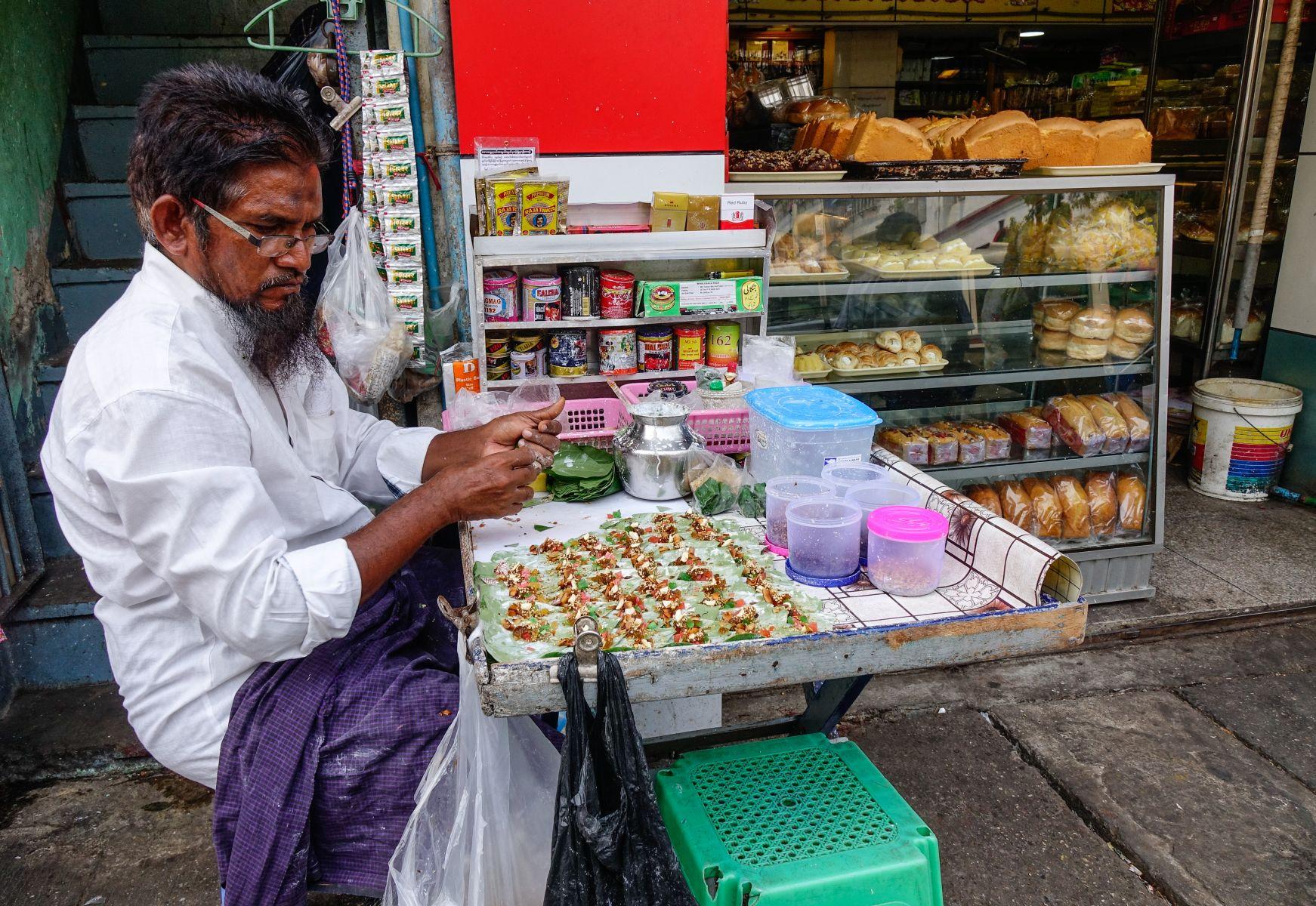 prodejce jídla