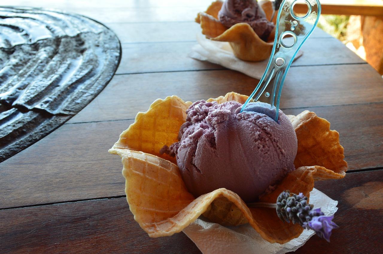 levandulová zmrzlina