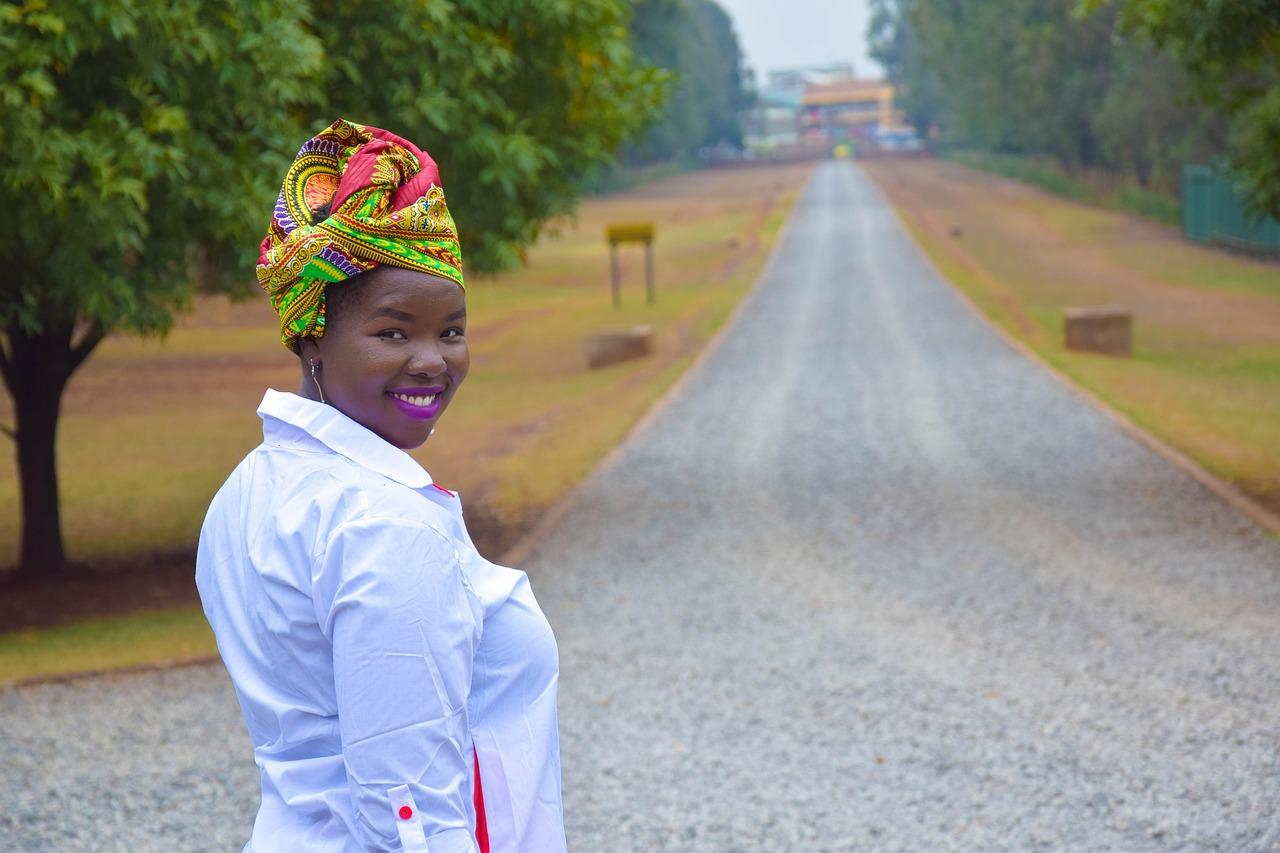 dívka v Nairobi
