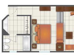 Junior Suite Ocean View - plán