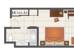 Junior Suite - plánek