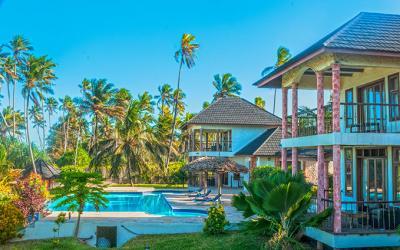 Budovy s pokoji a bazén | Zawadi Beach Villas Matemwe