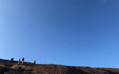 cestou ke skalním malbám bush paintings   Matobo Hills NP