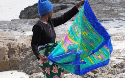 Madagaskar prodejkyně na pláži | Madagaskar - Ifaty 5