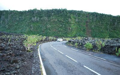 Silnice mězi lávovými poli | Réunion