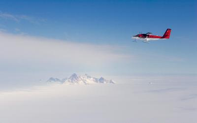 Přelet antarktického vnitrozemí