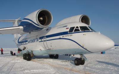 Antonov - přistávací dráha na základně Barneo