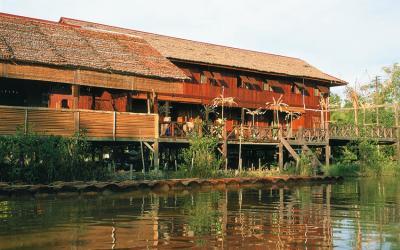 Sarawak longhouse