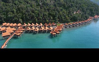 Berjaya-Langkawi-Resort-Resort Aerial View - Water Chalets