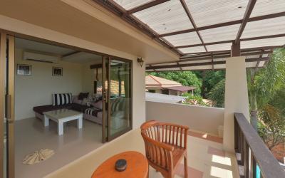 2 bedrooms pool villa - balkon