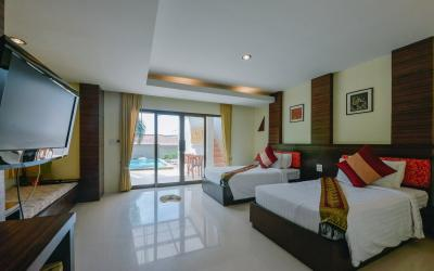 2 bedrooms pool villa - interier