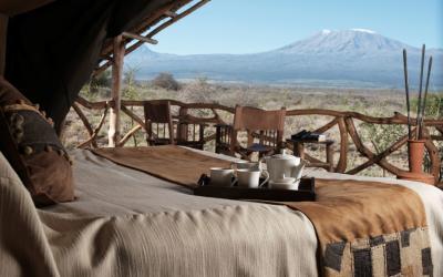 Satao Elerai camp, pohled ze stanu | Keňa