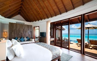 Overwater Pool Suite Interior