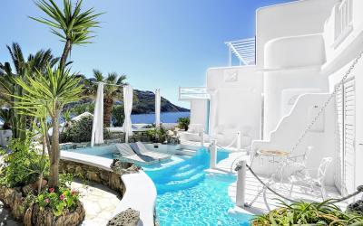 bazén u pokoje Royal Suite