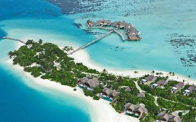 Aerial shot Beach Pavilions