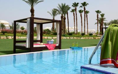 Herods Dead Sea - Executive Garden Pool Room - část s privátním bazénem