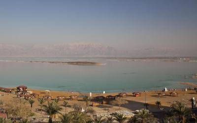 Isrotel Ganim Hotel Dead Sea - výhled od hotelu
