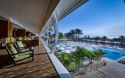 Isrotel Ganim Hotel Dead Sea - výhled z lobby