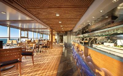 Bufetová restaurace na lodi