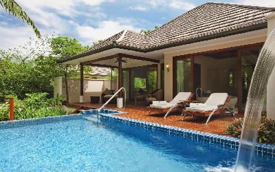 pokoj Deluxe Hillside pool villa | 440 Hilton Labriz