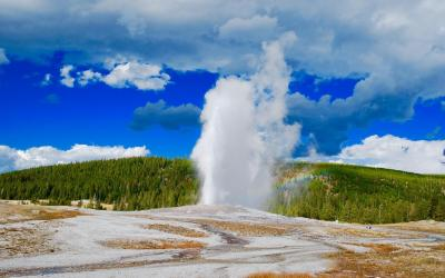 USA | Yellowstone NP - Old Faithful Geysir