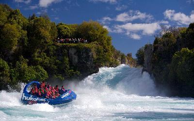 Nový Zéland | Huka Falls_Jet