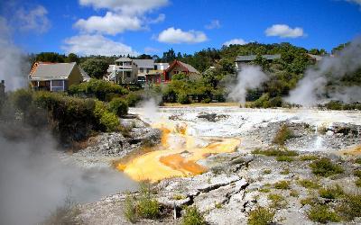 Nový Zéland   Whakarewarewa