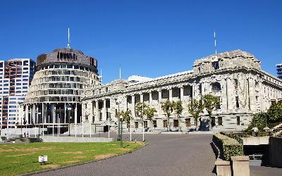 Nový Zéland   Wellington_Parliament
