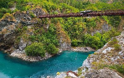 Nový Zéland | Queenstown_Kawarau Bridge