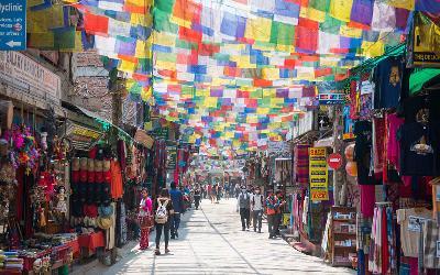 Nepál   Kathmandu_Thamel Bazar