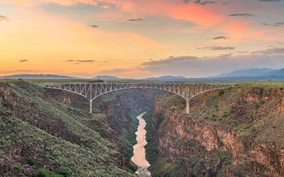 USA | Taos - Gorge Bridge nad Rio Grande