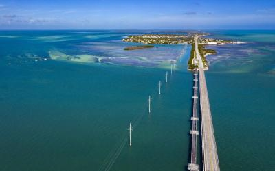 USA | Overseas Highway - příjezd na Key West