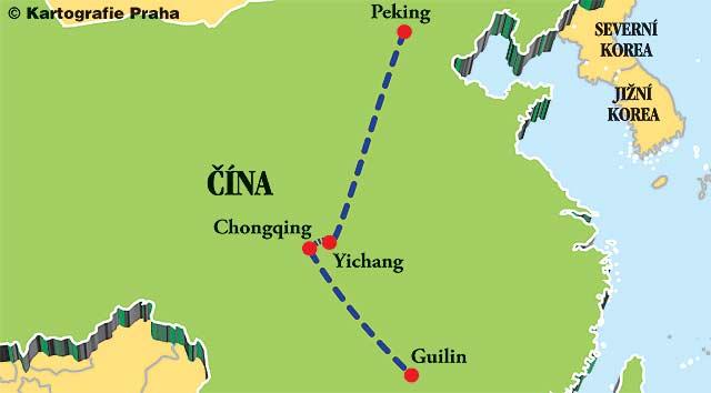 mapa_2015 - Plavby čínským vnitrozemím
